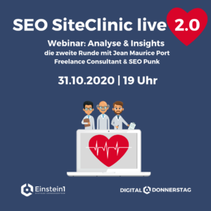 SEO Site Clinic 2.0 mit Jean Maurice Port - Digital Donnerstag