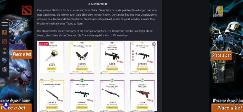 SkinBaron ranking platz 4