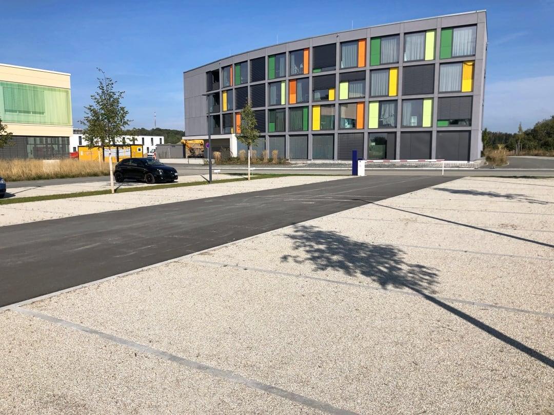 Parkplatz am Campus