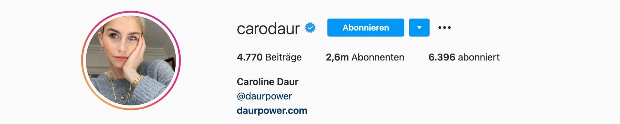 Top-7-Instagram-Influencer-Deutschland-Caro-Daur-